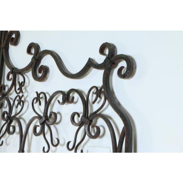 Rustic Vintage Metal Headboard For Sale - Image 3 of 6
