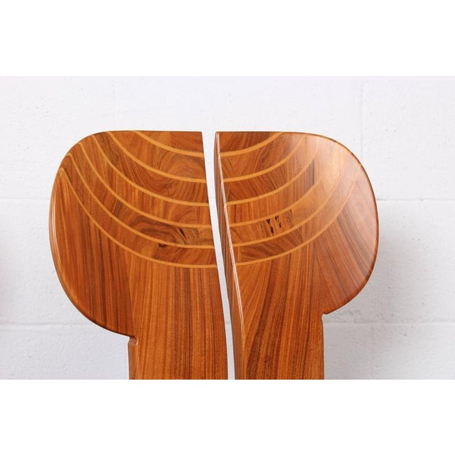 Animal Skin Four Africa Chairs by Afra & Tobia Scarpa For Sale - Image 7 of 10