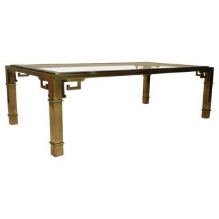 Mastercraft Brass Greek Key Coffee Table For Sale