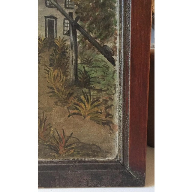 19th Century Folk Art Oil on Canvas Painting - Image 5 of 7