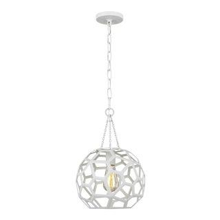 Alexa Hampton by Generation Lighting Feccetta Small Pendant, White For Sale