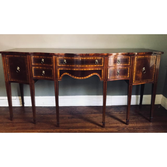 Hickory Chair Company Huge Mahogany Sideboard For Sale - Image 9 of 9