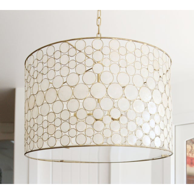 Contemporary Oly Studio Serena Drum Chandelier For Sale - Image 3 of 3