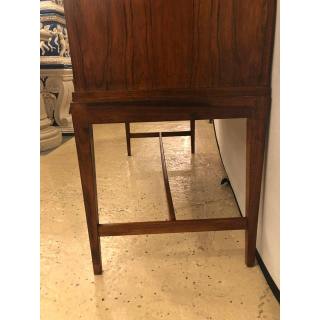 Mid 20th Century Two-Door Over Three-Drawer Mid-Century Modern Brazilian Rosewood Cabinet Chest For Sale - Image 5 of 13