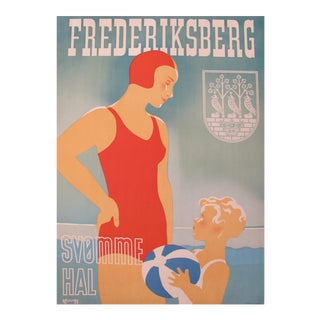 Frederiksberg 1938 Original Danish Travel Poster For Sale