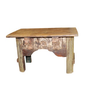 1920s Boho Chic Hand Carved Coffee Table