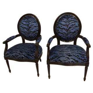 Pair of Ballon Back Chairs For Sale