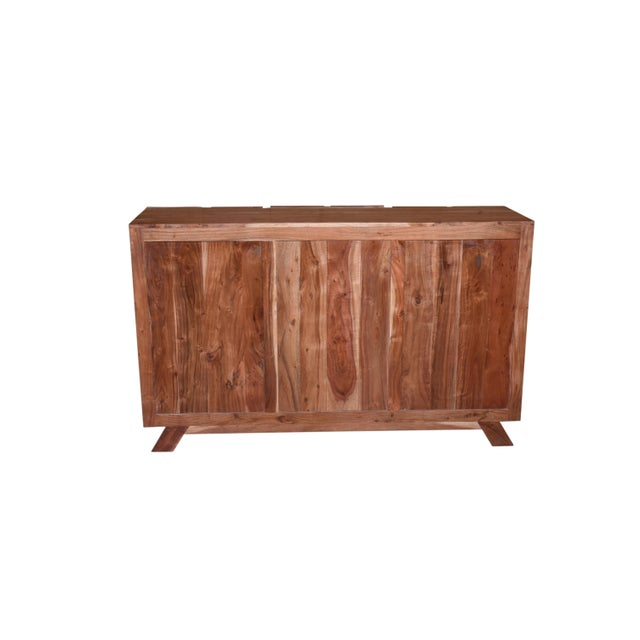 Brown Baxter Three Drawer Acacia Wood Storage Sideboard For Sale - Image 8 of 9