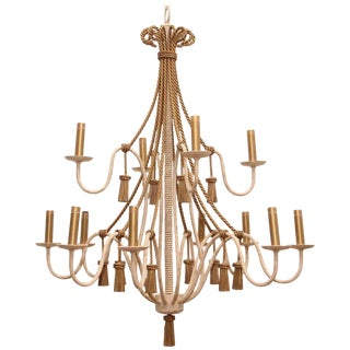 Late 20th Century Neoclassical Style Chandelier For Sale