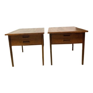 Vintage Midcentury Danish Modern End Tables - a Pair For Sale
