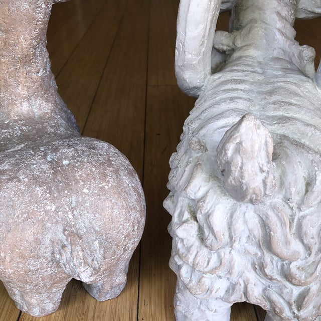 1970s Vintage Ram Sculptures** - a Pair For Sale In Atlanta - Image 6 of 8