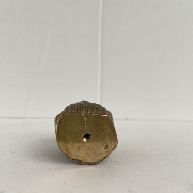 Vintage Mid 20th Century Tiny Brass Owl For Sale - Image 10 of 12