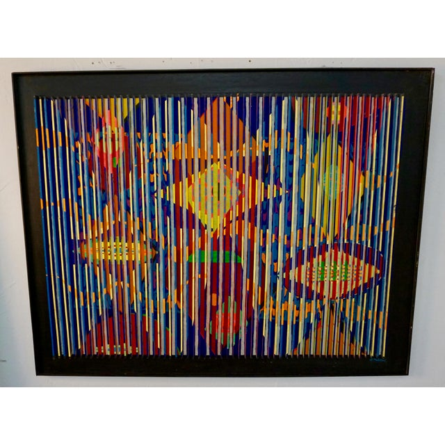 Louvered Abstract Painting by Louis Nadalini For Sale - Image 9 of 9