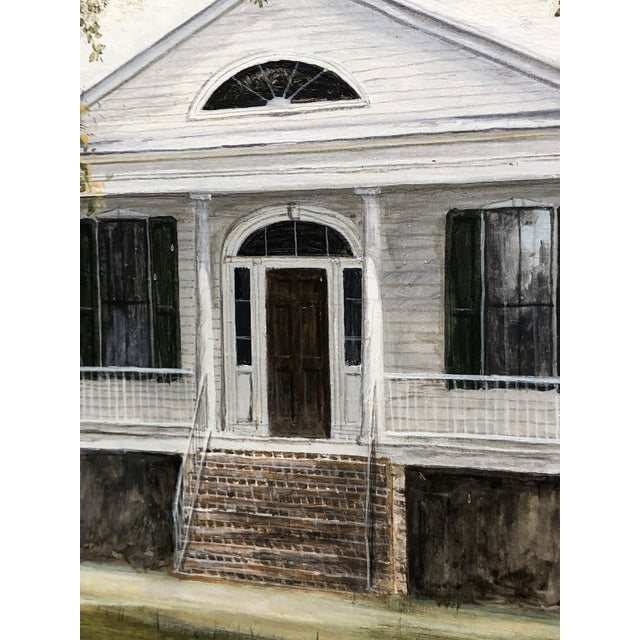 Douglas Grier Southern American Architectural Landscape Painting, Framed For Sale - Image 9 of 12