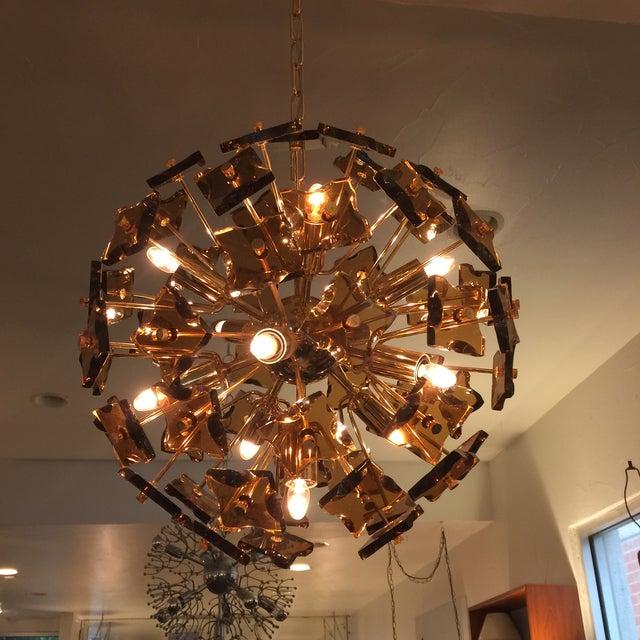 Fontana Arte Sputnik Chandelier Bronze Glass - Image 2 of 8