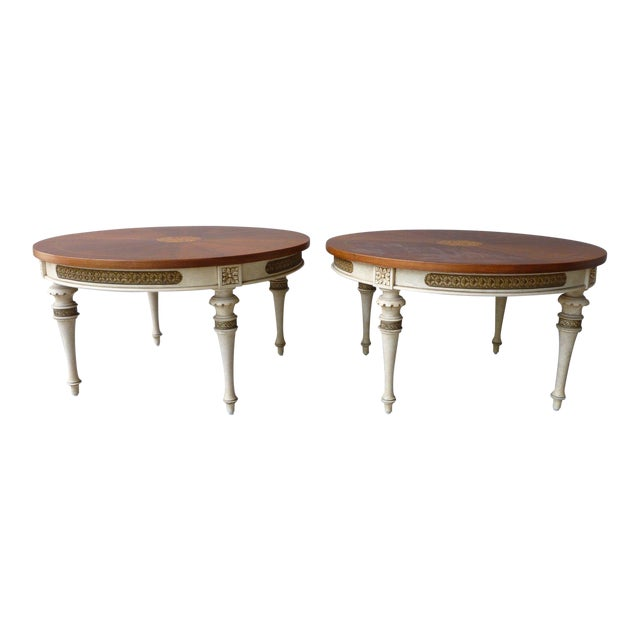 1950s Neoclassical Palladio Coffee Tables - a Pair For Sale