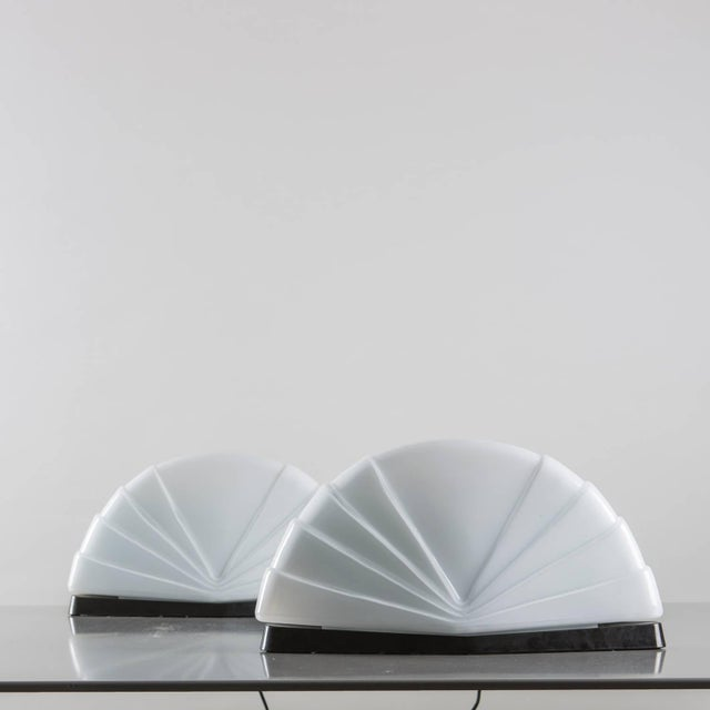 """Contemporary Pair of """"Flores"""" Table Lamps by P. Nava for Leucos For Sale - Image 3 of 7"""