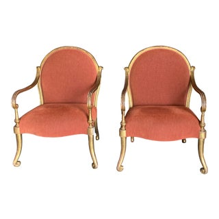 Gold Leaf Verona Arm Chair by Rose Tarlow - Pair For Sale