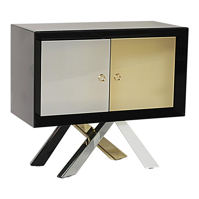 Mid-Century Modern Style Mirrored Cabinet - Image 1 of 4