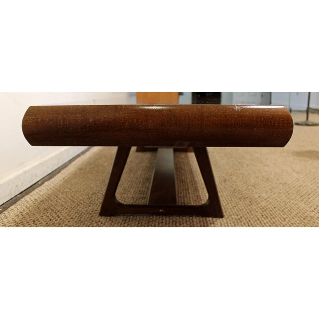 Mid-Century Danish Modern Adrian Pearsall Style Walnut Coffee Table - Image 6 of 11