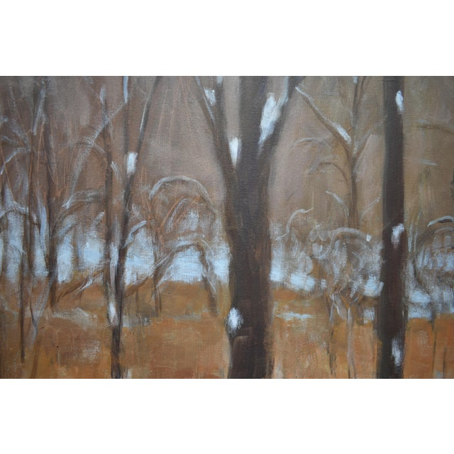 """Brown Stephen Remick """"Heading Up the Hill, Looking Back"""" Large Contemporary Landscape Painting For Sale - Image 8 of 12"""