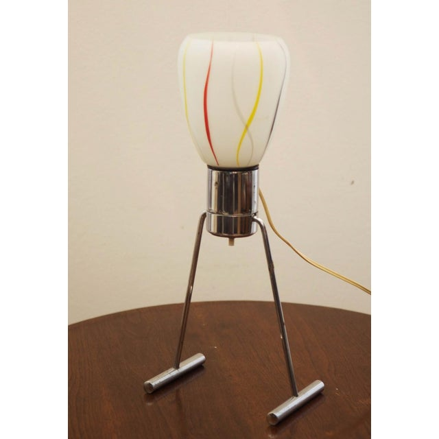 Mid-Century Modern Mid-Century Opaline Glass Table Lamp, 1950s For Sale - Image 3 of 9