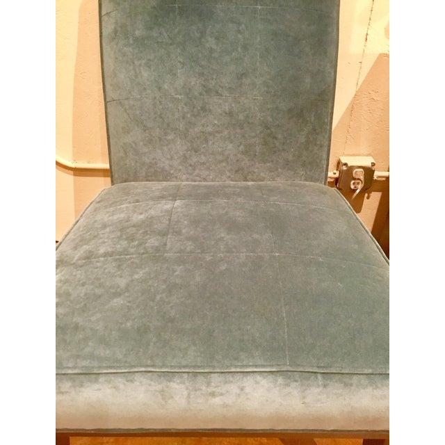 2010s Ambella Home Blue Velvet Gigi Slipper Chairs -a Pair For Sale - Image 5 of 8