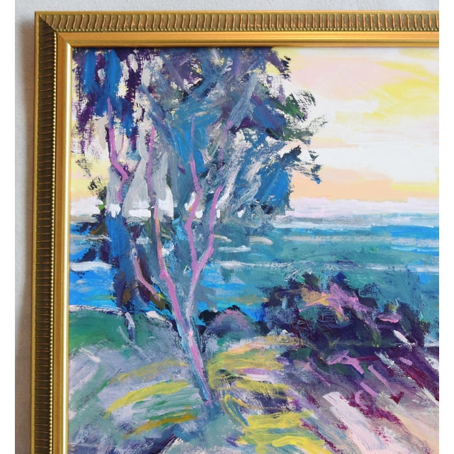 Abstract Ventura California Original Juan Guzman Plein Air Landscape Seascape Painting For Sale - Image 3 of 9
