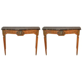 Pair of Late 18th Century French Console Tables For Sale