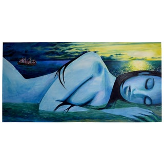 """""""Dream of a Sleeping Woman"""" Painting by Geoff Greene For Sale"""