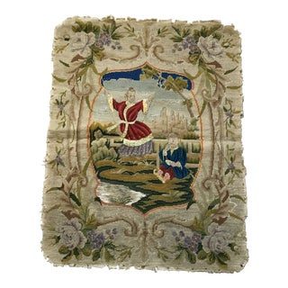 Late 19th Century French Needlepoint Tapestry For Sale