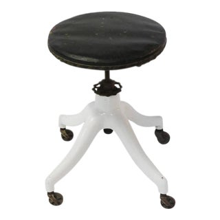 Antique American Swivel Stool For Sale
