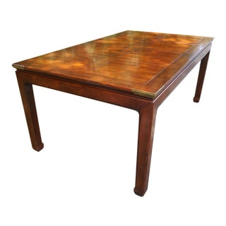 Vintage Henredon Pan Asian Dining Table For Sale