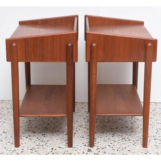 Soborg Mobelfabrik 1960s Danish Teak Side Tables by Borge Mogensen for Soberg Moblefabrik - a Pair For Sale - Image 4 of 11