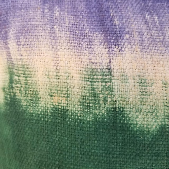 Tribal Hand Woven Hill Tribe Tie Dye Pillow For Sale - Image 3 of 4