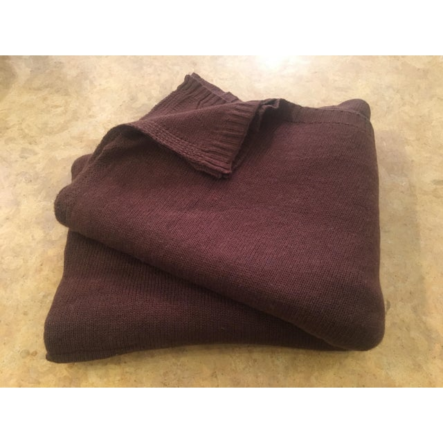 Chocolate Brown Cashmere Blanket - Image 10 of 10