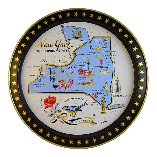 Vintage New York Souvenir Tray For Sale