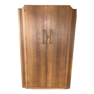 Large 1930s Style Birch Armoire For Sale