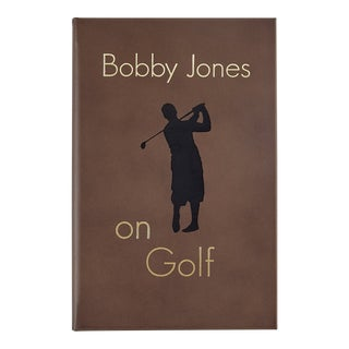 Bobby Jones On Golf, Bonded Leather Book in Brown For Sale