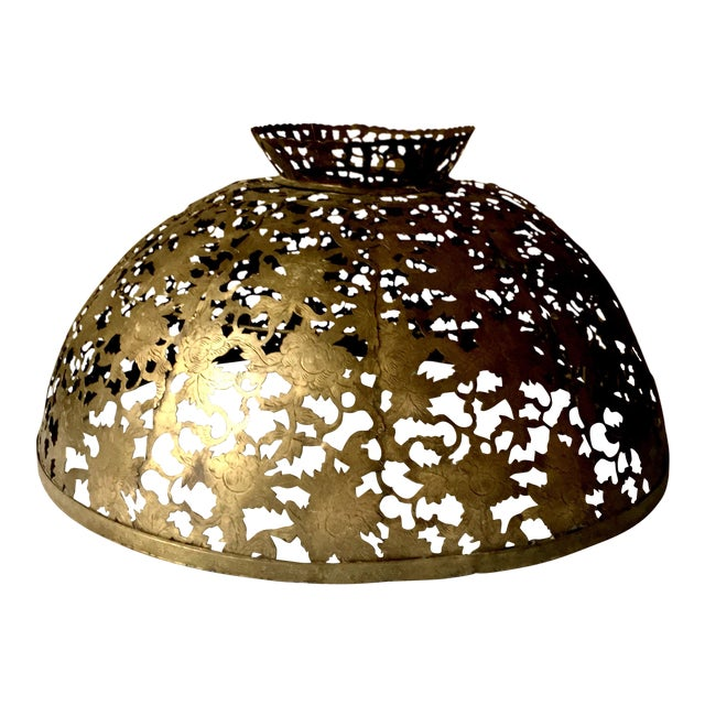 Antique Brass Chandelier Shade - Image 1 of 8