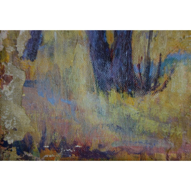 Vintage Oil on Canvas Fall Landscape Painting For Sale - Image 4 of 12