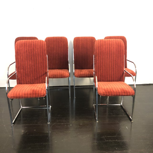 Milo Baughman for Dia High Back Dining Chairs- Set of 6 For Sale - Image 9 of 11