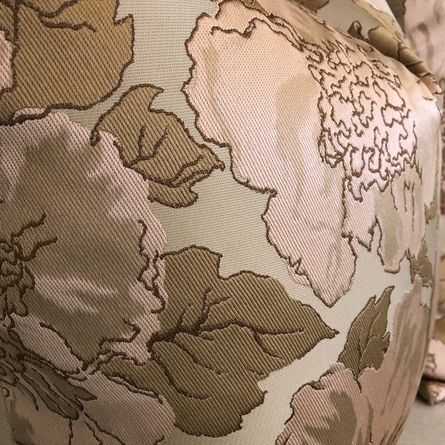 Custom Silk Floral Pillows - A Pair - Image 4 of 5