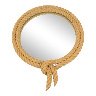 Audoux Minet France 1960s Rope Wall Mirror For Sale