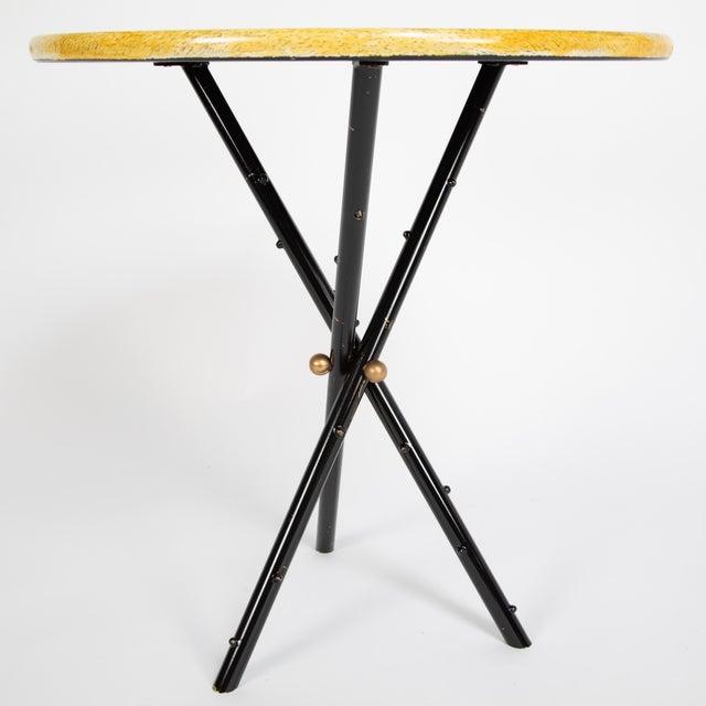 """Piero Fornasetti Piero Fornasetti """"Città DI Carte"""" Side Tables, Circa 1950s - a Pair For Sale - Image 4 of 13"""