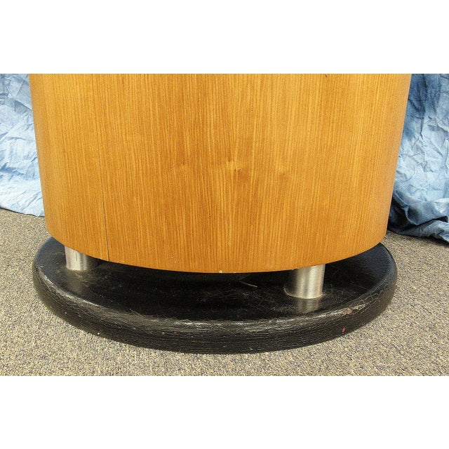 1980s Abstract Art Untitled Pedestal or Accent Table For Sale - Image 12 of 13