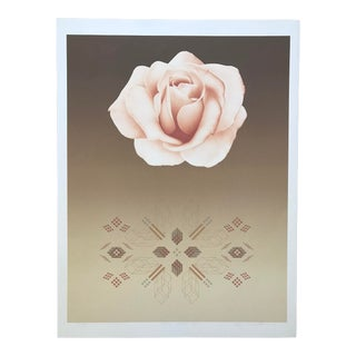 """1980s """"Rose Matrix VI"""" Botanical Serigraph Numbered 45/100 by David Haidle For Sale"""