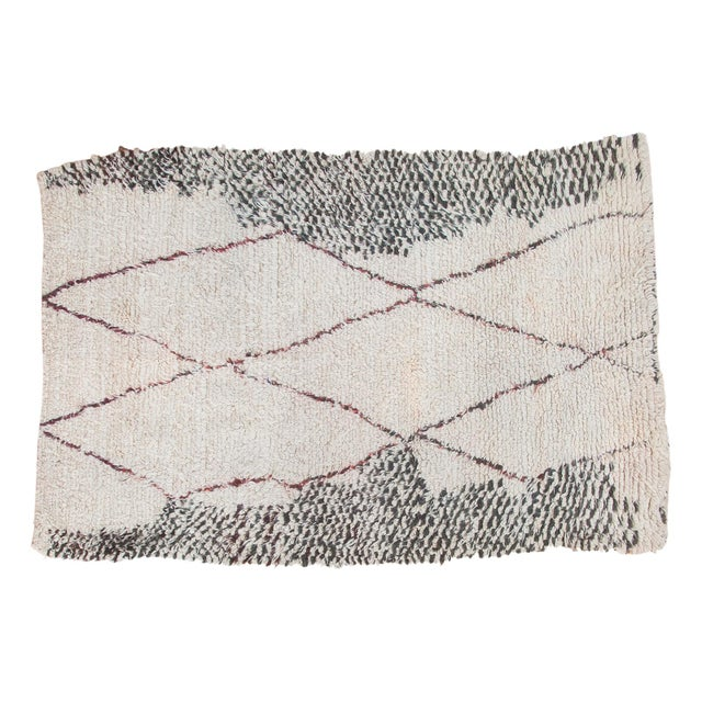 "Vintage Moroccan Carpet - 5'6"" X 8'3"" - Image 1 of 10"