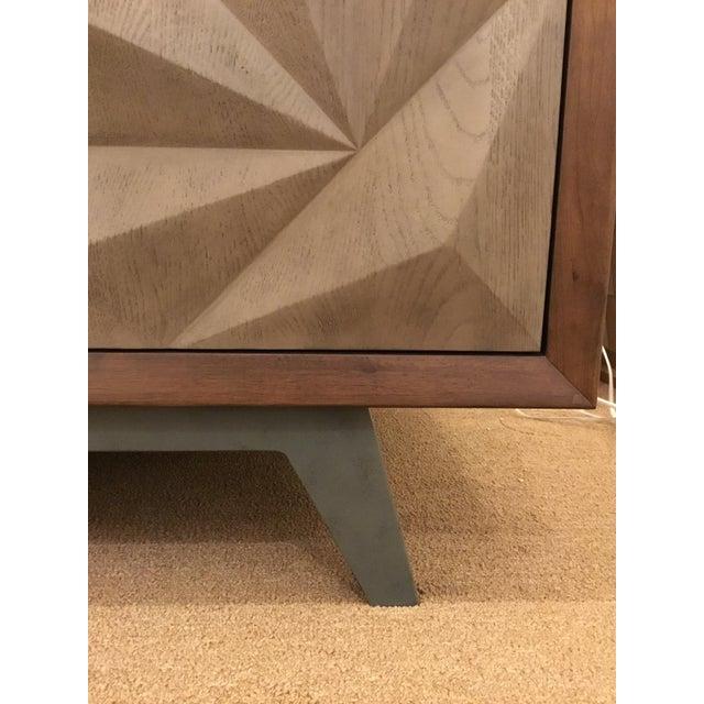 2010s Modern Wood Raised Door Cabinet For Sale - Image 5 of 8