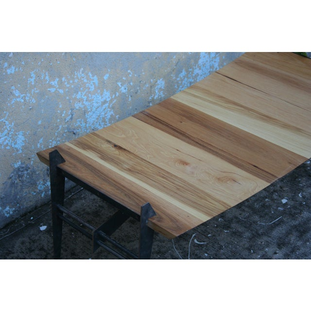 Dojo Custom Pecan Wood Coffee Table For Sale - Image 5 of 5